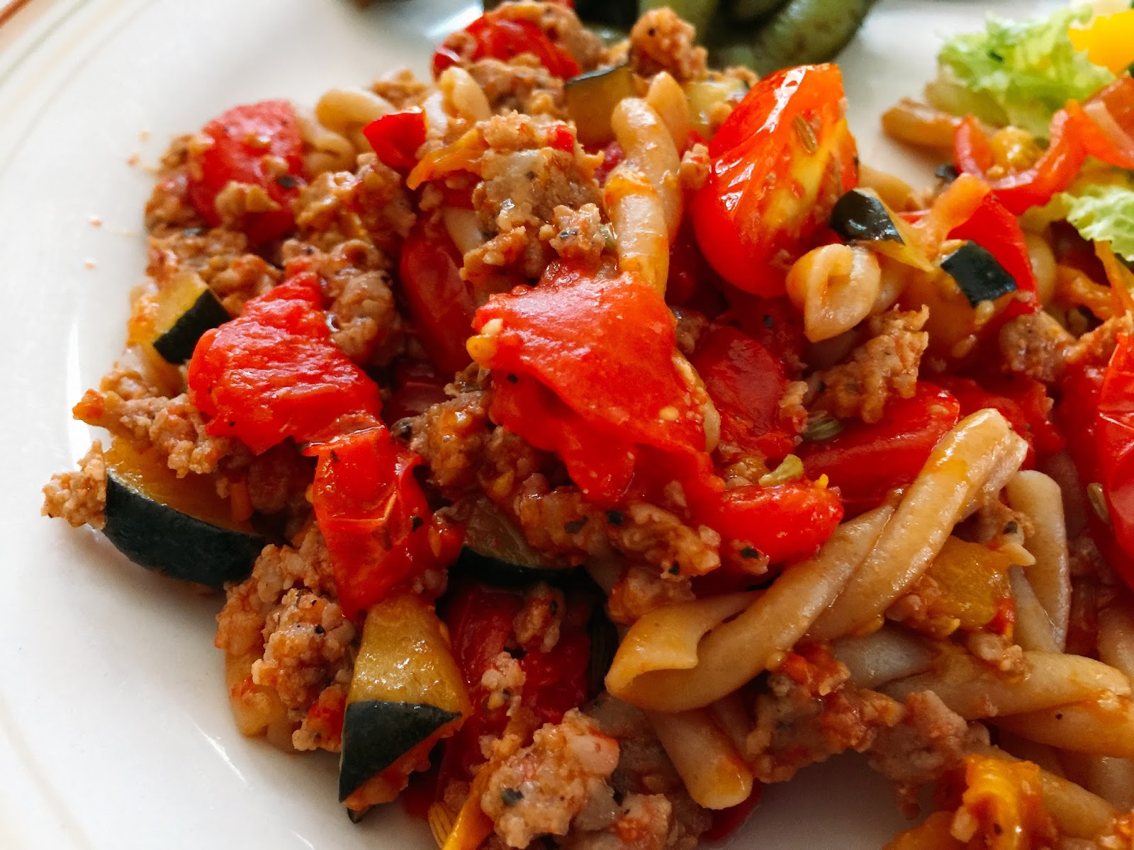 ... Recipes From Alice's Kitchen: Pasta with Peppers, Squash, and Tomatoes
