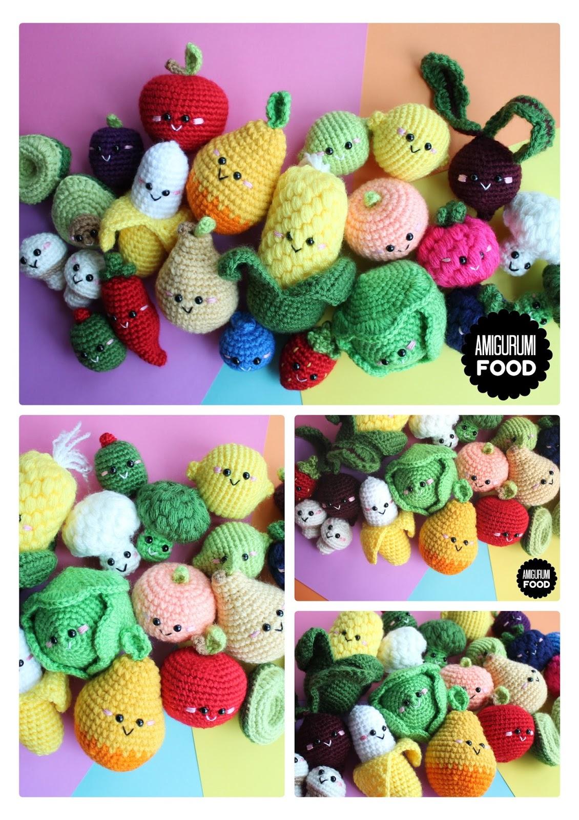Amigurumi Fruit--Free Crochet Play Food Fruit Pattern, has banana, orange,  apple, kiwi, pear, grapes, lemon, a… | Lebensmittel häkeln, Obst häkeln,  Kostenlos häkeln | 1600x1130