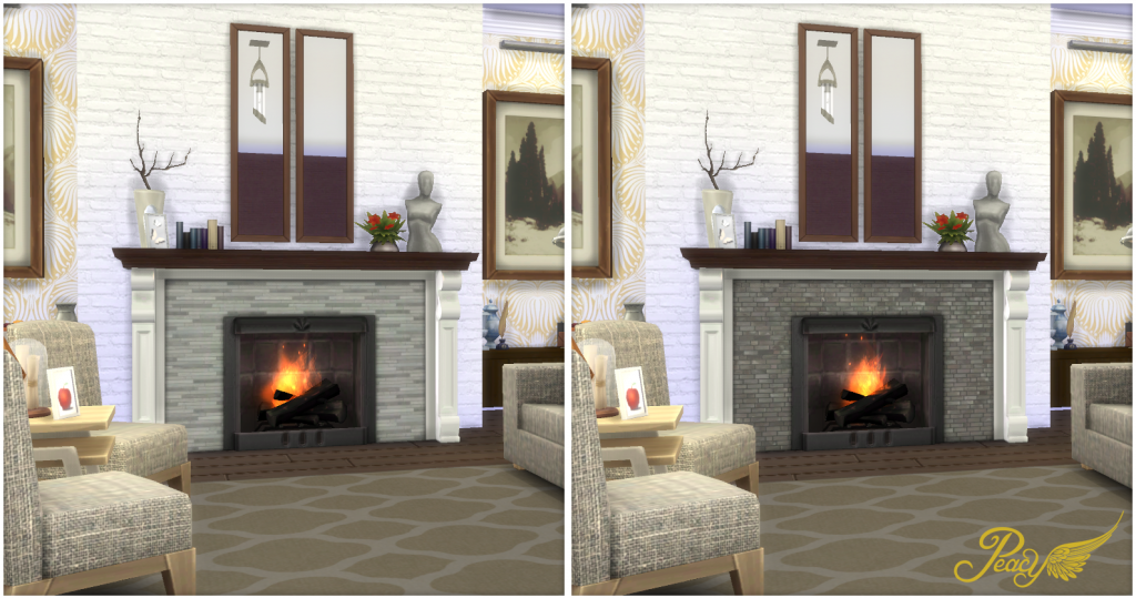 My Sims 4 Blog Contemporary Fireplaces By Peacemaker Ic