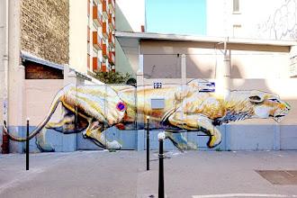 Sunday Street Art : Harry James dans le cadre des 14' Arts 2016 - rue Raymond Losserand - Paris 14