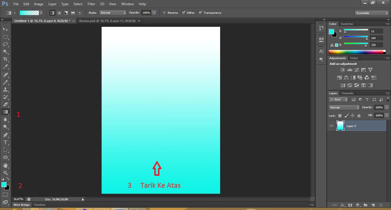 Tutorial photoshop | Membuat Brosur dengan Photoshop yang ...