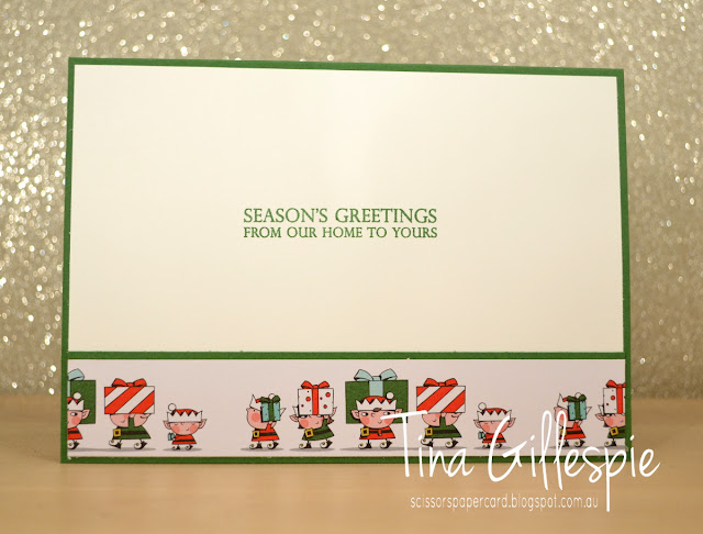 scissorspapercard, Stampin' Up!, Art With Heart, Heart Of Christmas, Merry Christmas To All, Santa's Workshop SDSP, Merry Christmas Thinlits
