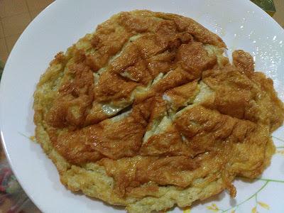 resipi telur dadar simple