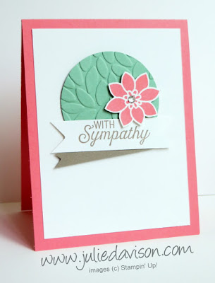 Stampin' Up! Flourishing Phrases Sympathy Card for #GDP042 #stampinup www.juliedavison.com
