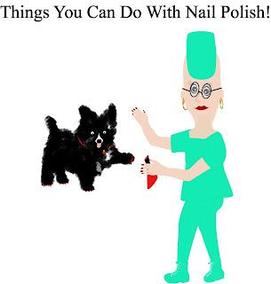 nail polish saved this dogs leg!