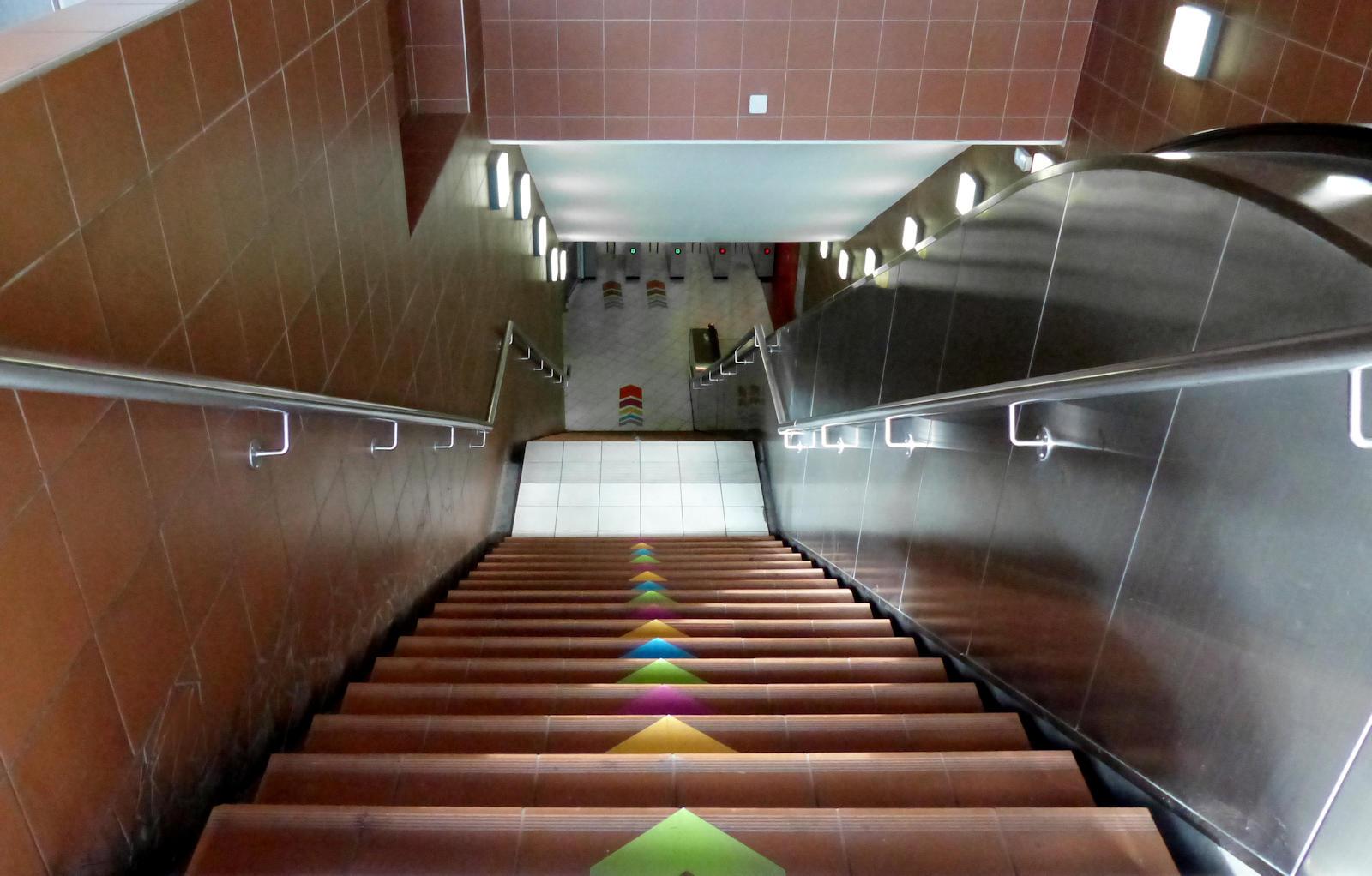 """Station Métro """"Tourcoing Centre"""" - Escaliers entrée Fidèle Lehoucq"""
