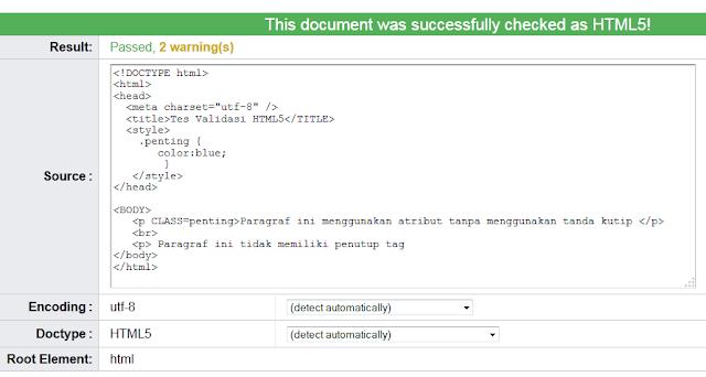 Tutorial Belajar HTML5 Part 1: Perbedaan HTML5 dengan HTML 4 dan XHTML 1.1