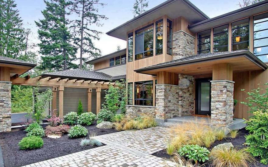 Gambar Model Tiang Teras Dengan Batu Alam Minimalis - 25 Contoh Model Tiang / Pilar Teras Depan Rumah Minimalis