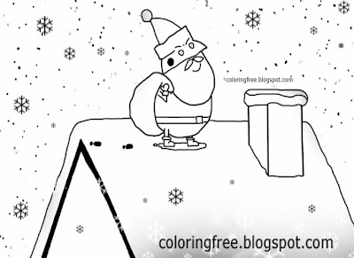 Frozen house basic drawing Santa Claus cartoon Peppa pig coloring pages Christmas preschool activity
