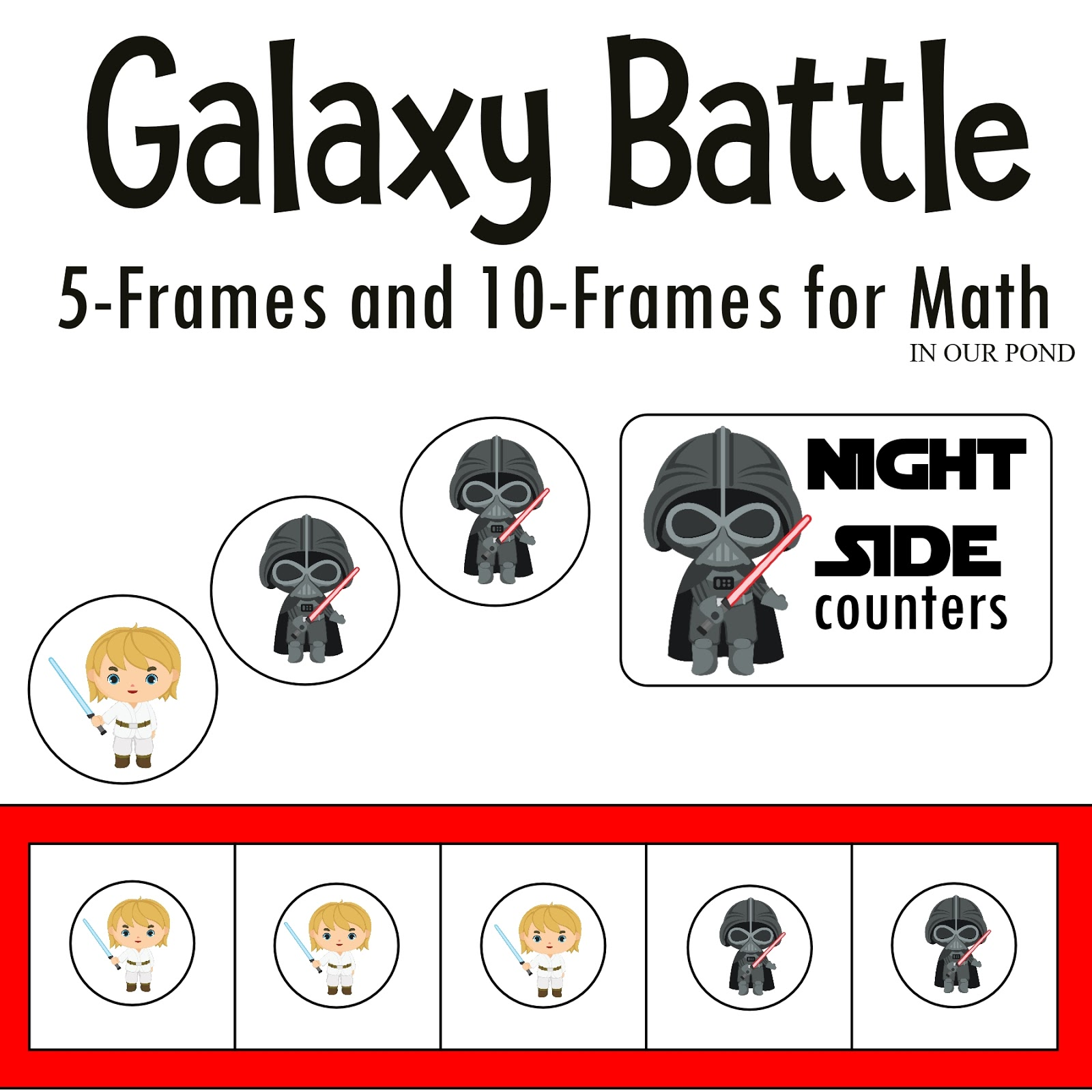 Galaxy Battle Math Duel Forces Counters