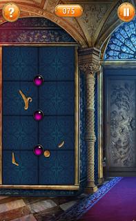 На стене имеется три точки и несколько фрагментов от будущей картины