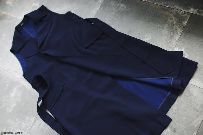 日本人ファッションブロガー,MizuhoK,3月に買ったもの、AZUL by moussy ネイビーロングベスト ロングジレ メルカリ