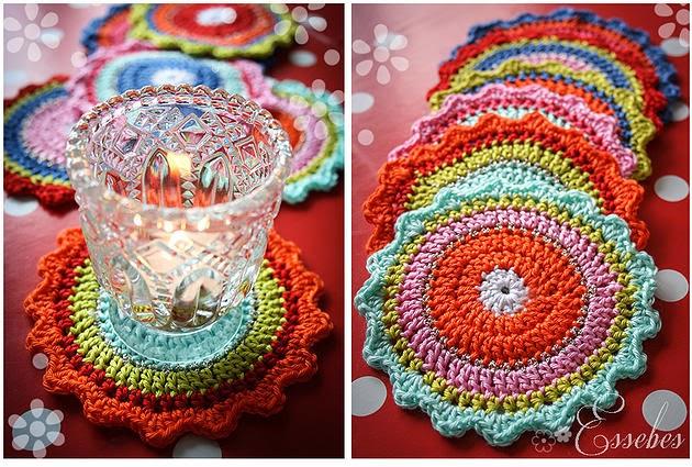 Handmade By Essebes Oilily Onderzetters Haken