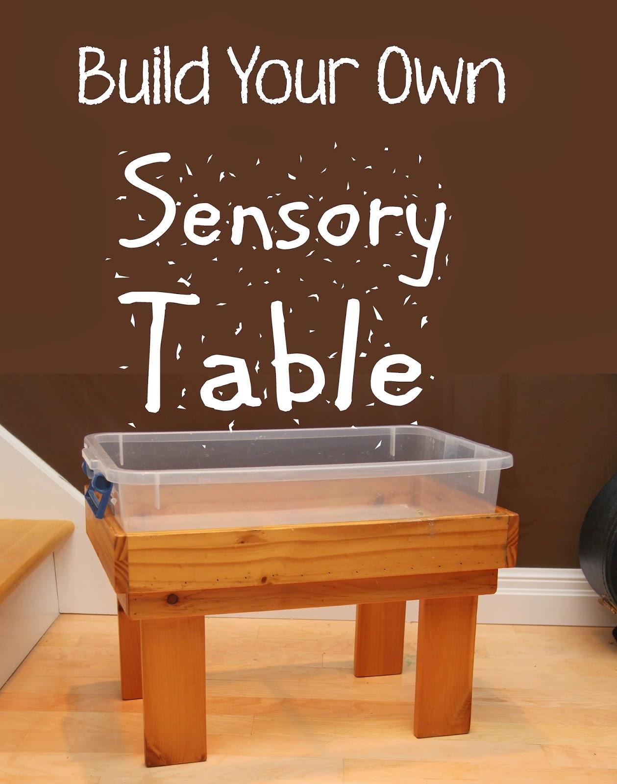 blue sky parent build your own sensory table. Black Bedroom Furniture Sets. Home Design Ideas