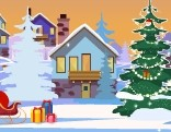 GenieFunGames Winterland Christmas Cottage Escape