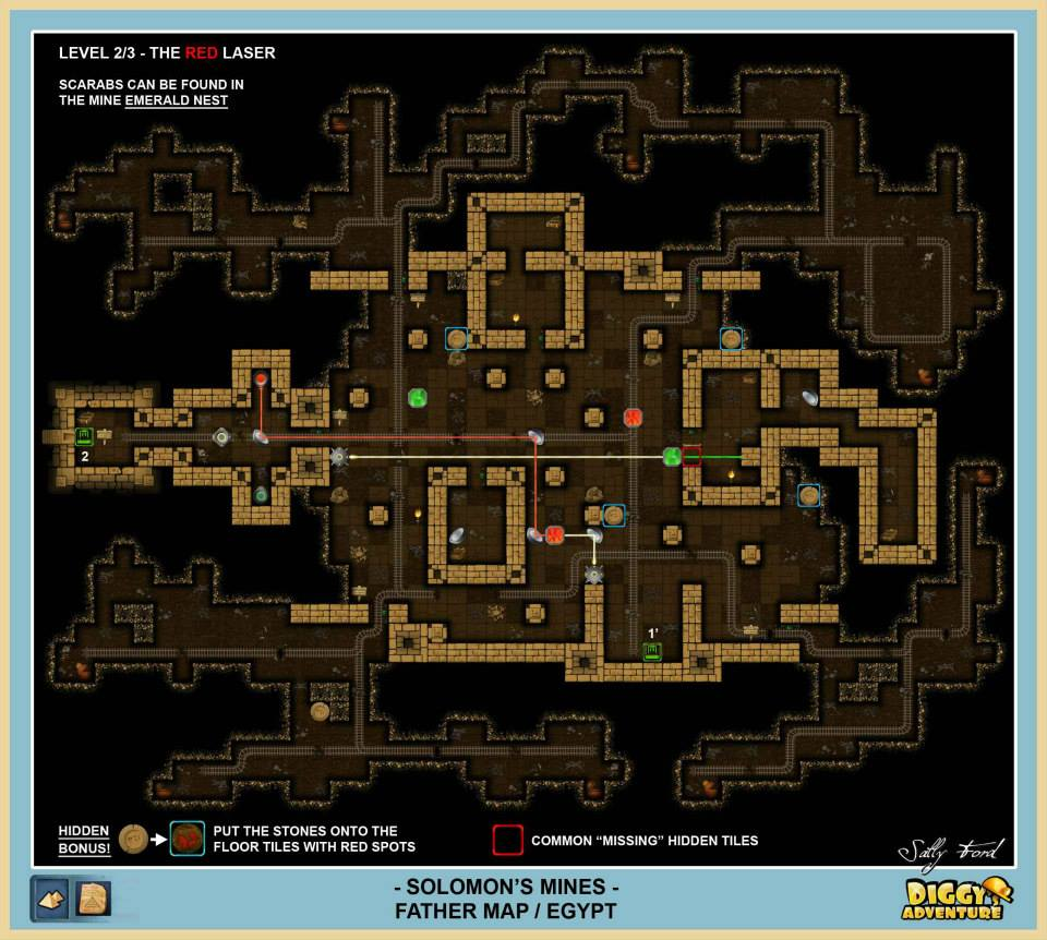Diggy's Adventure Walkthrough: Egypt Father Quest / Solomons Mines