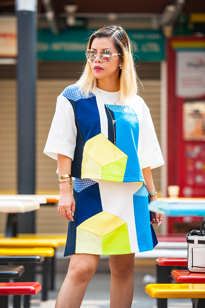 Crystal Phuong- Singapore Fashion Blog- Lie spring collection- Color Block