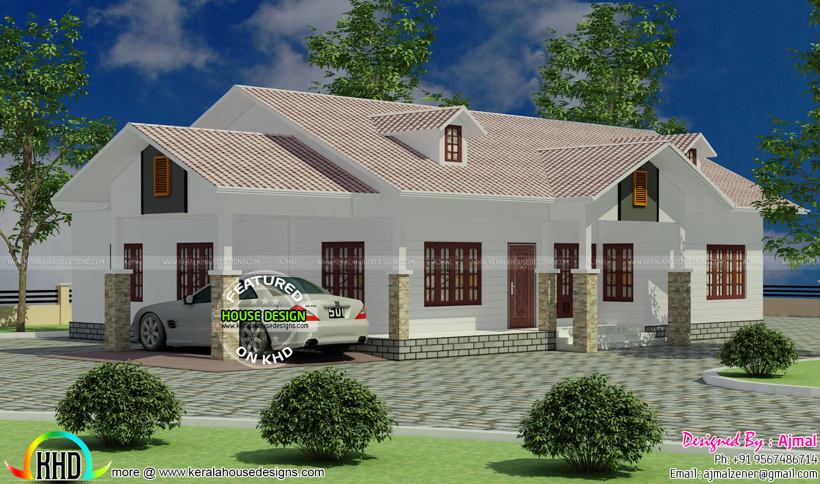 Colonial model one floor home - Kerala home design and ...
