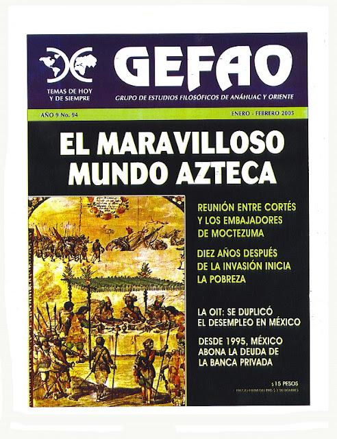 El Maravilloso Mundo Azteca REVISTA GEFAO