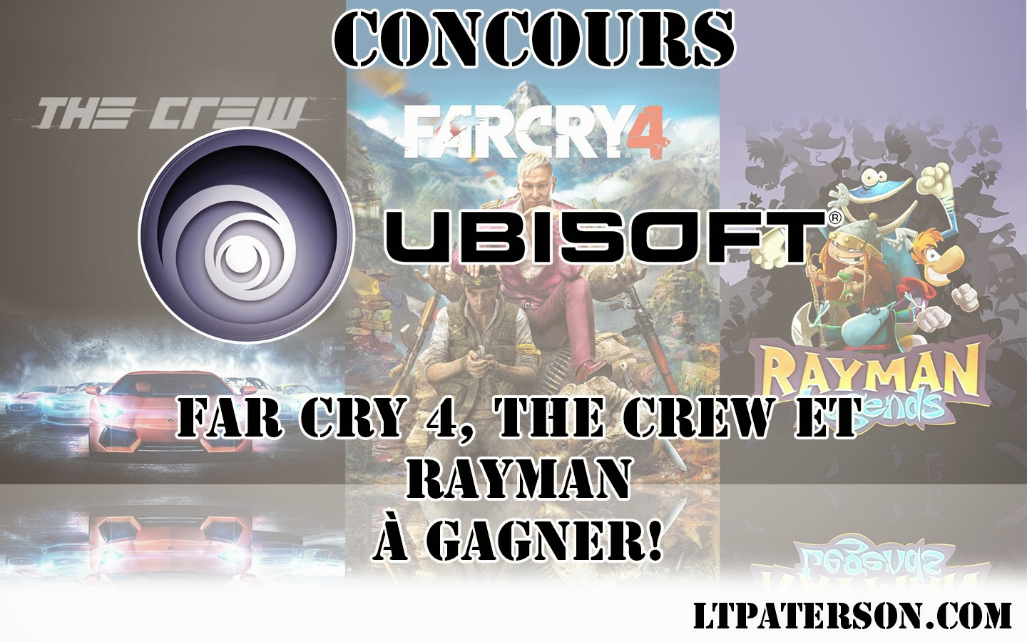 concours far cry 4 the crew et rayman legends gagner blog jeux video pc. Black Bedroom Furniture Sets. Home Design Ideas