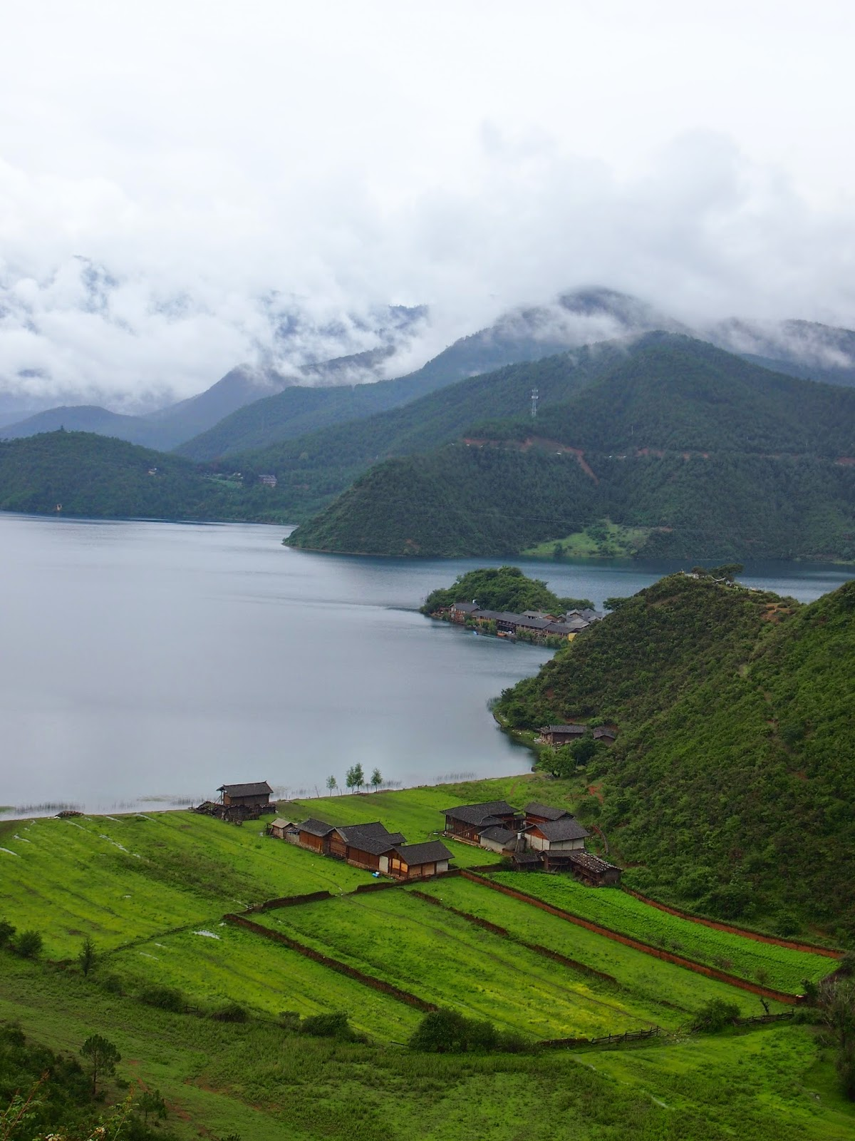 A village in lugu Lake