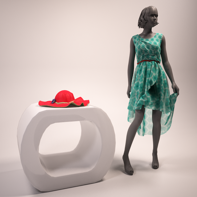 3dsMax高精度服裝店相關3D模型下載