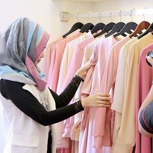 9+ Trend Busana Muslim Terbaru Untuk Lebaran 2018 Warna Pastel