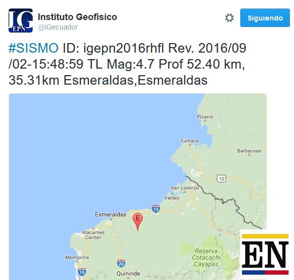 temblor esmeraldas