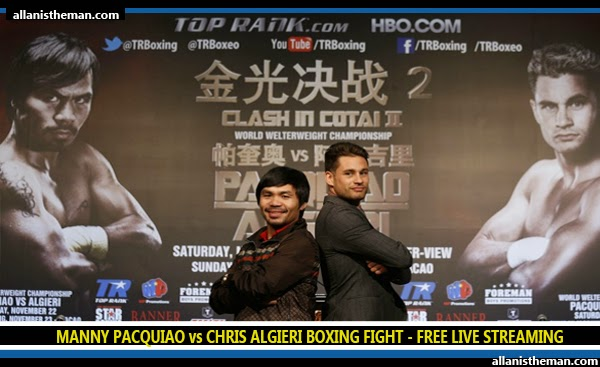 Manny Pacquiao vs Chris Algieri Boxing Fight FREE LIVE STREAMING ONLINE