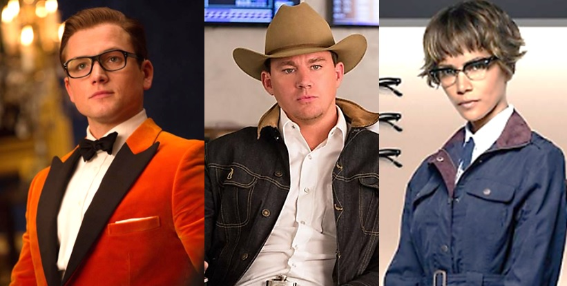 Taron Egerton as Eggsy, Channing Tatum as Tequila and Halle Berry as Ginger Ale in 'Kingsman