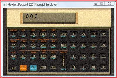 emulador da calculadora HP-12C