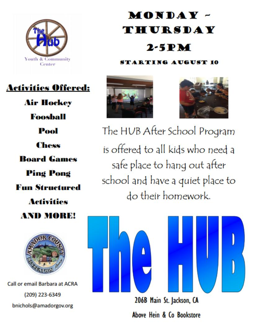 after school program at the hub needs sponsors the after school program at the hub in jackson has attracted nearly 30 students who come to the facility