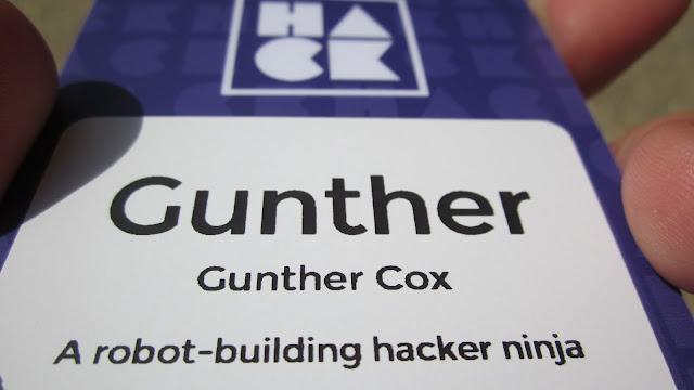 Gunther Cox - A robot-building hacker ninja.