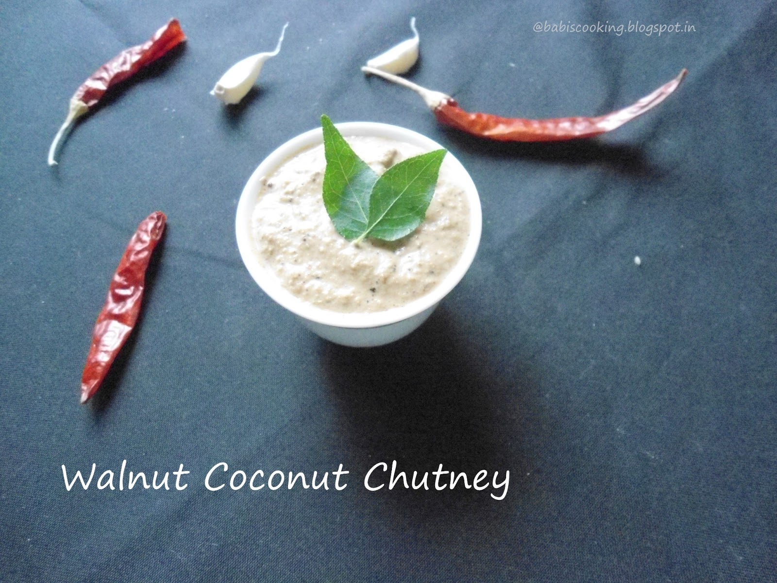 walnut coconut chutney