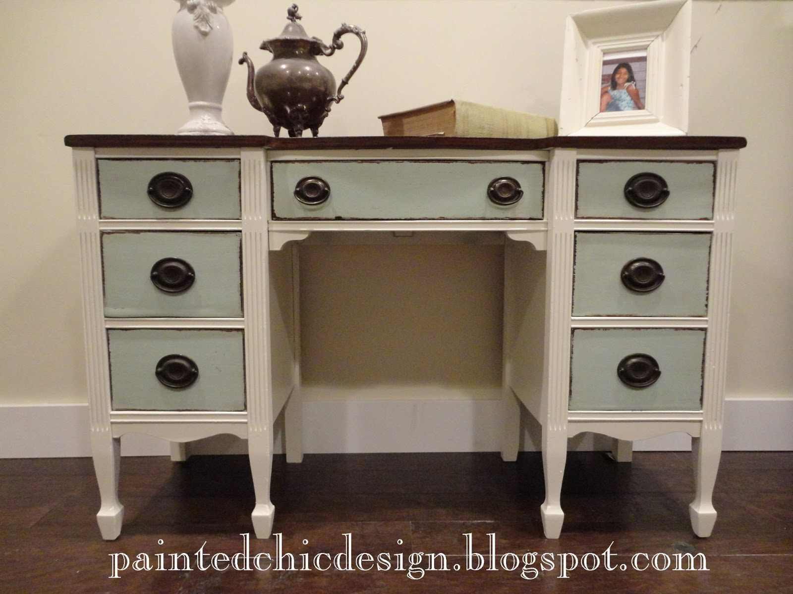 Brand-new The Painted Chic Design: SOLD Antique Two Tone Desk YY28