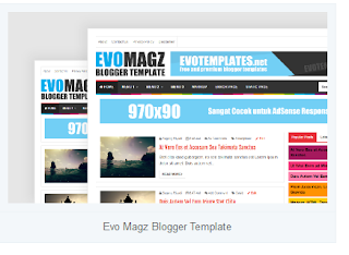 contoh template blog