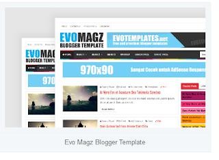 contoh template blog