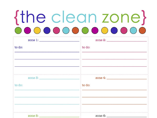 survival cleaning + {the clean zone} free printable