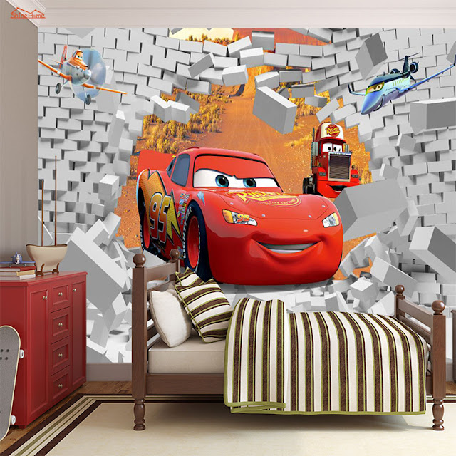 Wall Murals For Kids Rooms Wallpaper Disney Cars Boys Part 49