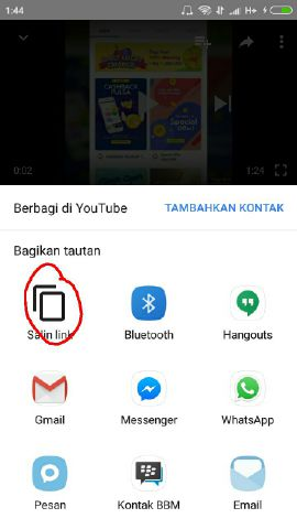 cara download video di youtube ke galeri