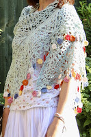 Cherry Heart Gypsy Shawl