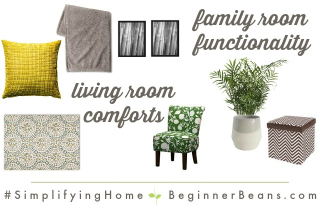 Simplifying Home: Living Room Comforts, Family Room Practicality