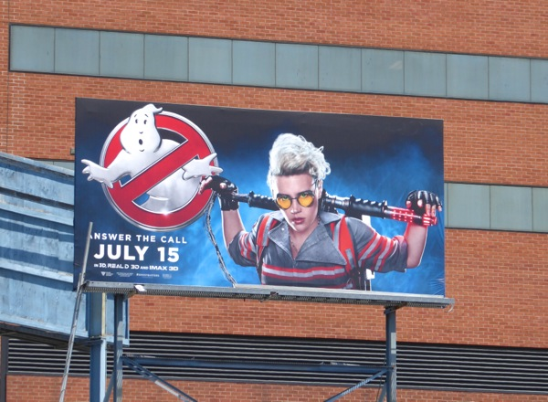 Ghostbusters 2016 film billboard