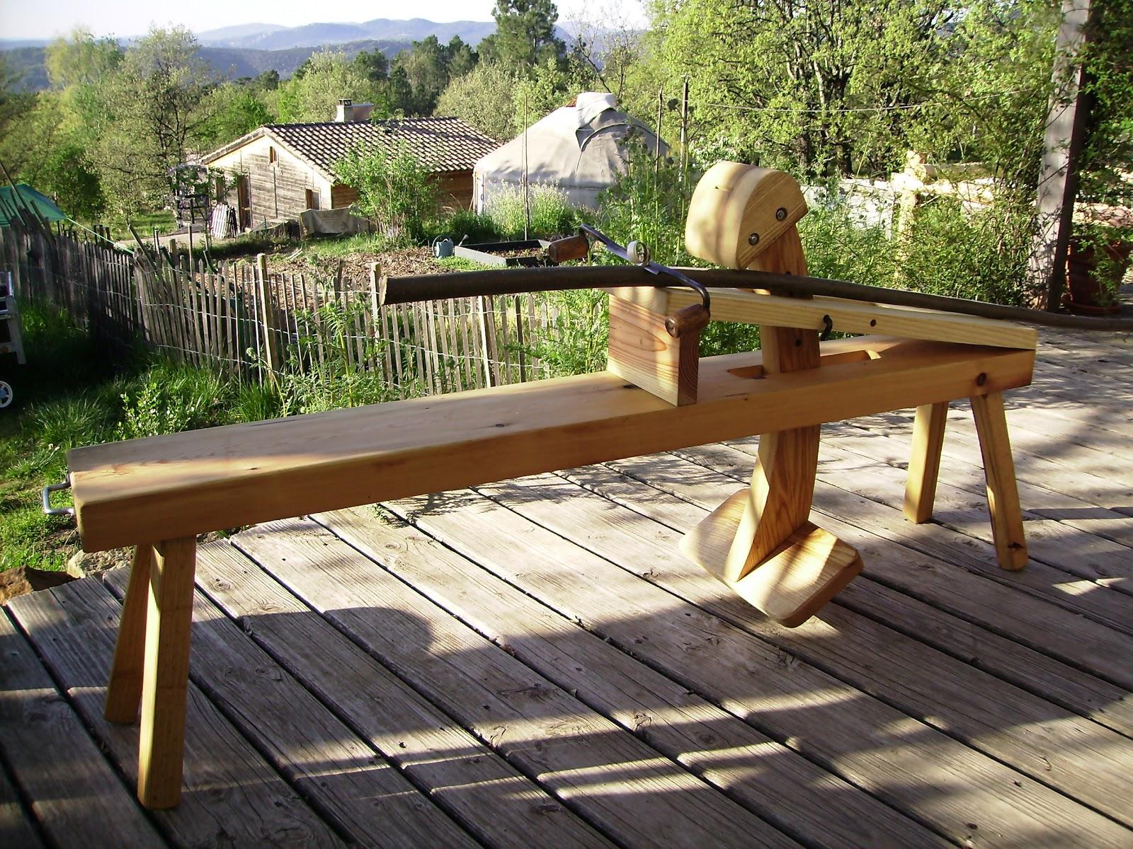 Fabrication Banc En Bois l'atelier des coureurs des bois: fais ton banc d'âne!