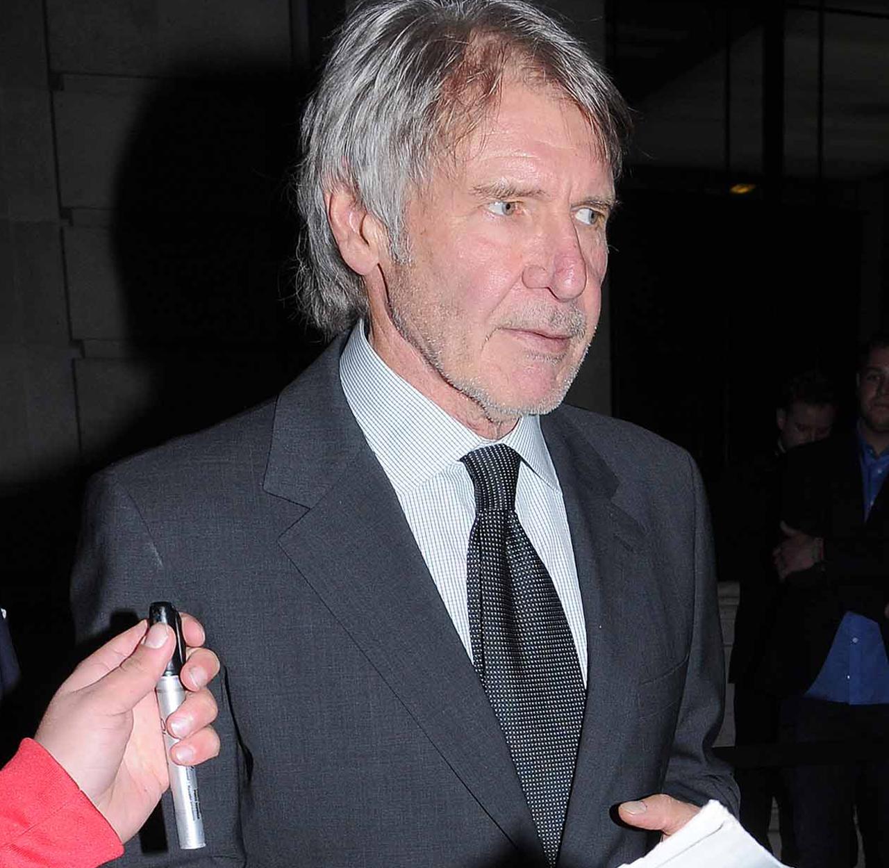Harrison Ford prezent la petrecerea ce marchează finalul filmărilor pentru Star Wars: Episode VII