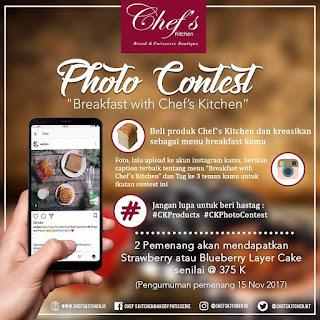 Kontes Foto Breakfast With Chef's Kitchen Berhadiah Produk Kue Senilai Ratusan Ribu Rupiah