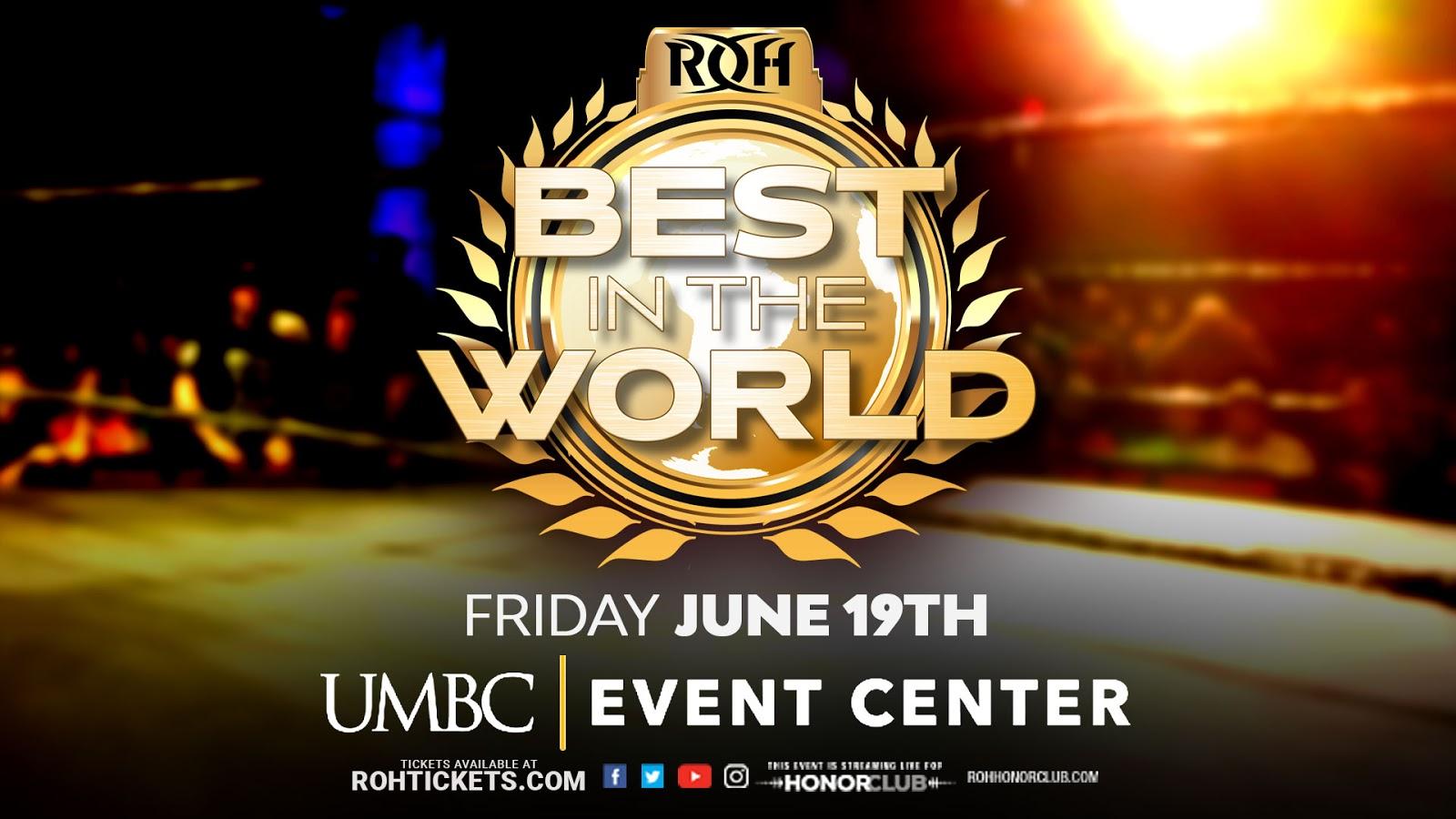 "ROH transmitirá ""O melhor do Best in the World"" em PPV"