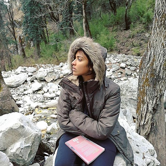Amala Paul Enjoying Snow In Ihe Himalayas Gallery