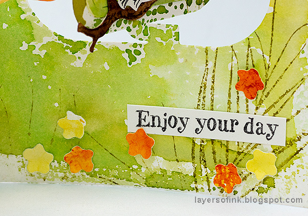 Layers of ink - Charm Accordion Bird Card Tutorial by Anna-Karin Evaldsson