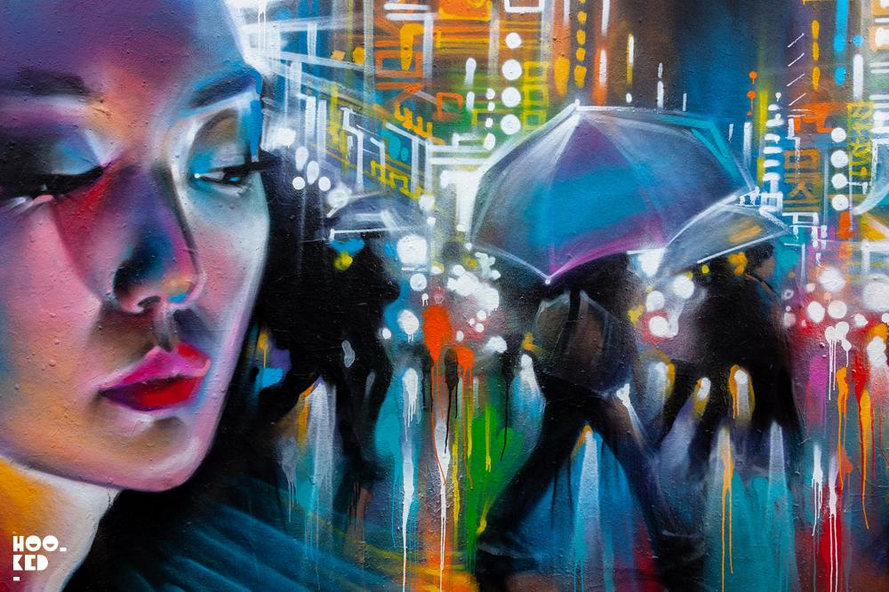 Shoreditch Street Art, London Street Artist Dan Kitchener aka DANK new mural